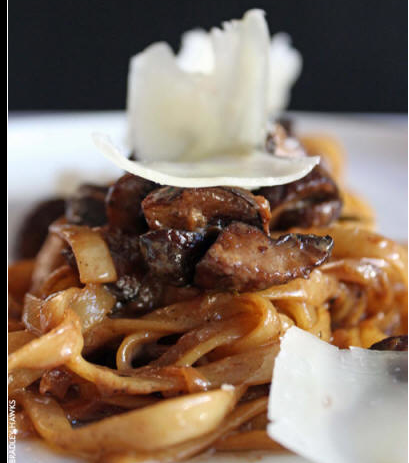 Mushroom Stroganoff from Bear Restaurant. Photo via/click thru for BearNYC.com