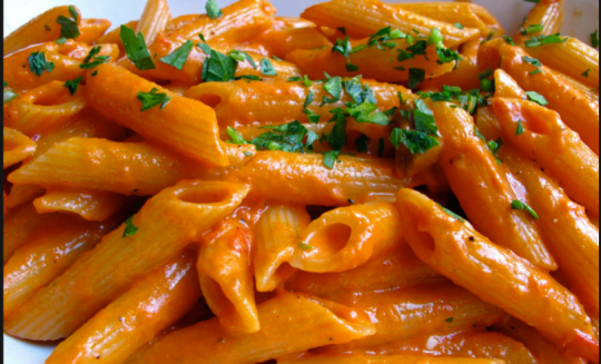 Penne alla Basil from Basil Brick Oven Pizza. Photo via/click thru for BasilBrickOven.com